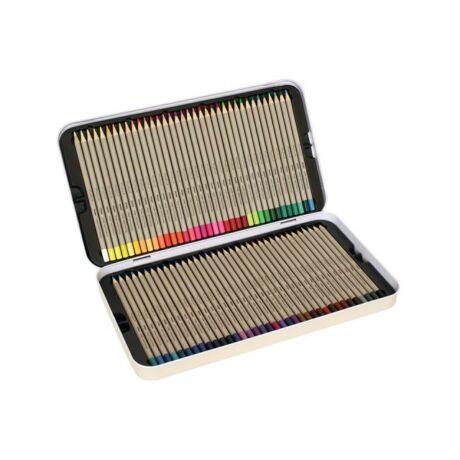 Színesceruza PRIMO 72db-os készlet, lakkozott végű, elegáns fém dobozban