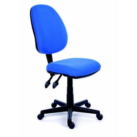 """Irodai szék, kék szövetborítás, fekete lábkereszt, MAYAH """"Happy Plus"""""""