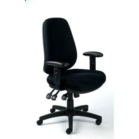 """Irodai szék, állítható karfás, exkluzív fekete szövetborítás, fekete lábkereszt, MAYAH """"Bu..."""