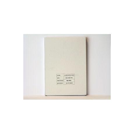 Lamináló fólia, A/4 80micron 100db