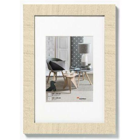 "Képkeret,fa, 10x15 cm, ""Home"" krém fehér"