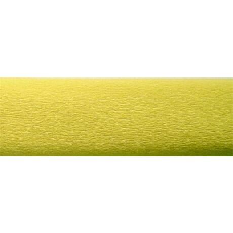 Krepp papír 50x200 cm, világos sárga