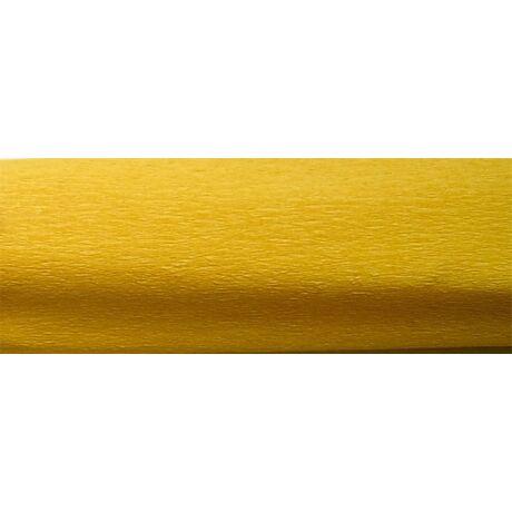 Krepp papír 50x200 cm, arany sárga