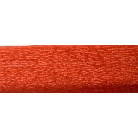 Krepp papír 50x200 cm, narancs vörös