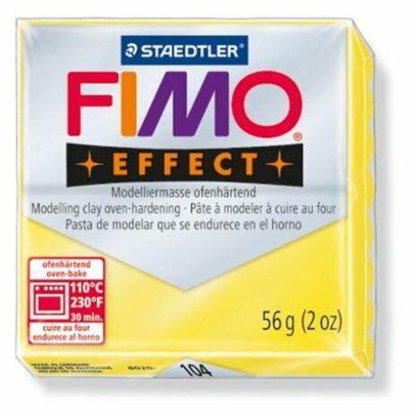 """Gyurma, 56 g, égethető, FIMO """"Effect"""", áttetsző sárga"""