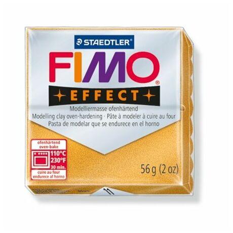 """Gyurma, 56 g, égethető, FIMO """"Effect"""", metál arany"""