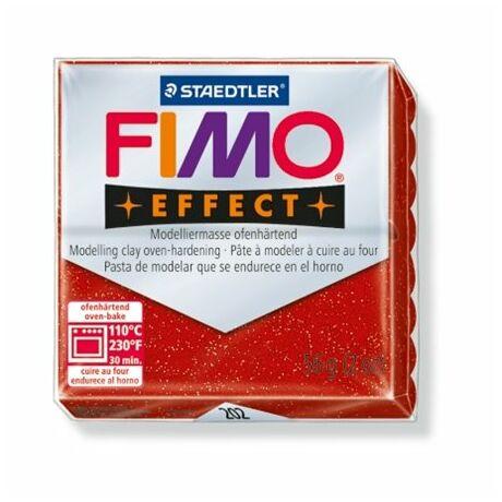 "Gyurma, 56 g, égethető, FIMO ""Effect"", csillámos piros"