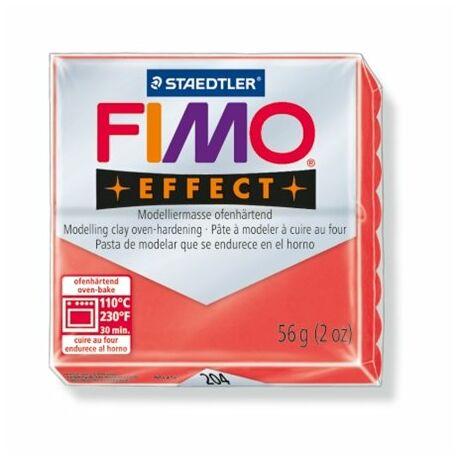 """Gyurma, 56 g, égethető, FIMO """"Effect"""", áttetsző piros"""