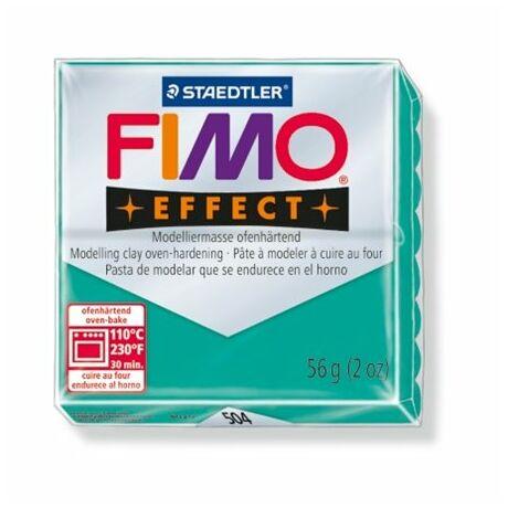 """Gyurma, 56 g, égethető, FIMO """"Effect"""", áttetsző zöld"""