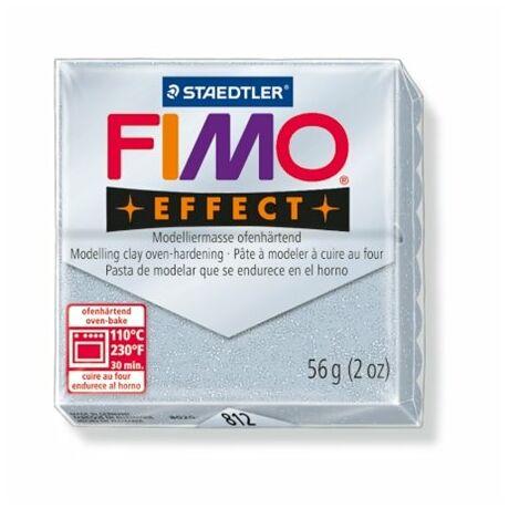 "Gyurma, 56 g, égethető, FIMO ""Effect"", csillámos ezüst"