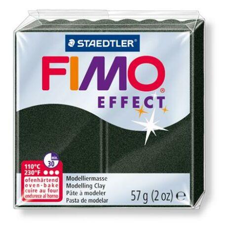 """Gyurma, 57 g, égethető, FIMO """"Effect"""", fekete gyöngyház"""