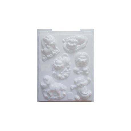 Cre Art gipszkiöntő forma, PP öntőforma, fehér, Emlős állatok