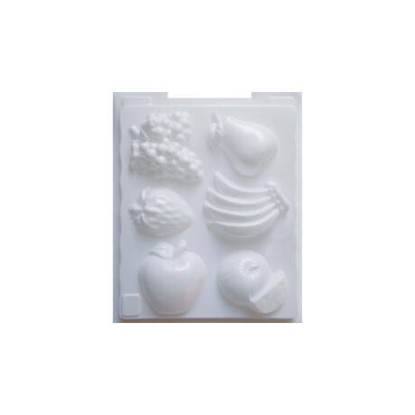 Cre Art gipszkiöntő forma, PP öntőforma, fehér, Gyümölcsök