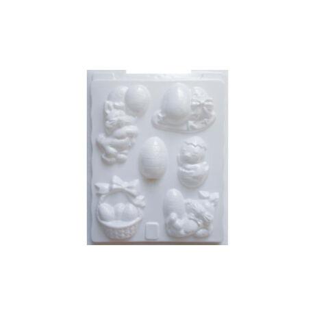 Cre Art gipszkiöntő forma, PP öntőforma, fehér, Húsvéti