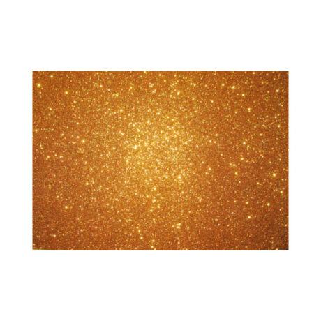 Cre Art csillámos dekorgumi lap, A/4, 2mm, arany