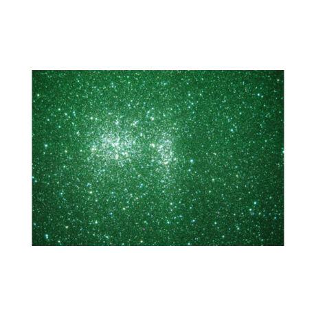 Cre Art csillámos dekorgumi lap, A/4, 2mm, zöld