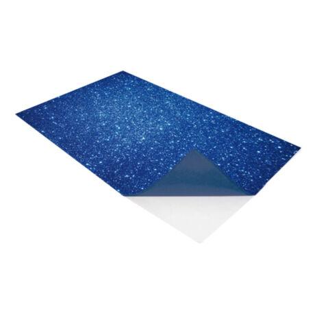 Cre Art öntapadó csillámos dekorgumi lap, A/4, 2 mm, kék