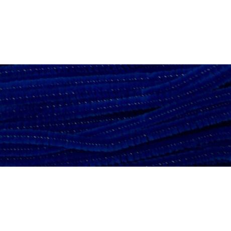 Cre Art zsenília 6 mm x 300 mm, 100 db/csomag, sötétkék