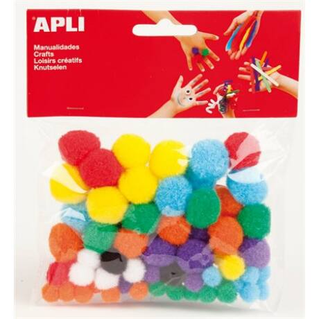 """Pom-pom, APLI """"Creative"""", vegyes színek"""