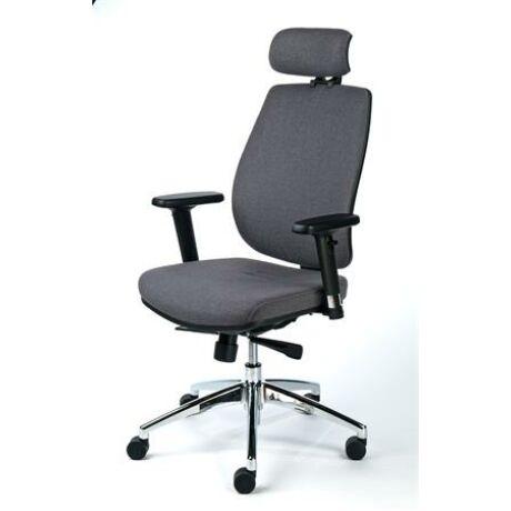 """Irodai szék, állítható karfával, szürke szövetborítás, alumínium lábkereszt, MAYAH """"Grace..."""