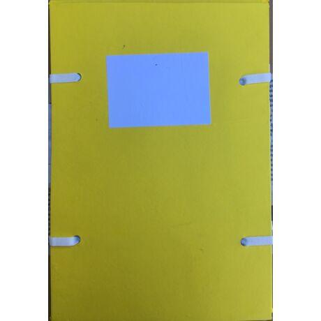 Szalagos irományfedél, 1250gr., 230x325mm, citromsárga