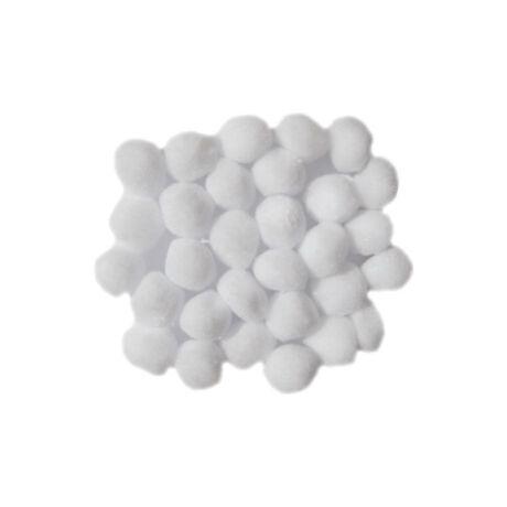 Cre Art pompon 30 mm, kb. 30 db/csomag, fehér