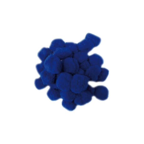 Cre Art pompon 30 mm, kb. 30 db/csomag, kék