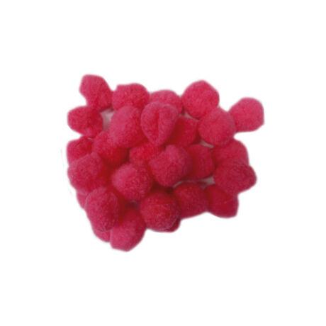Cre Art pompon 30 mm, kb. 30 db/csomag, rózsaszín