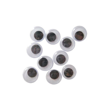 Cre Art kerek, ragasztható dekor szem 15 mm, 100 db/cs