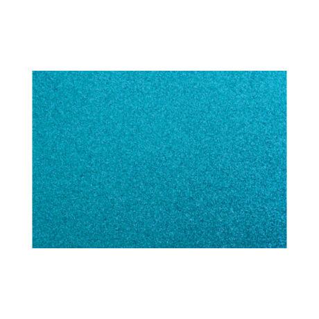 Cre Art öntapadó csillámos dekorgumi lap, A/4, 2 mm, türkizkék