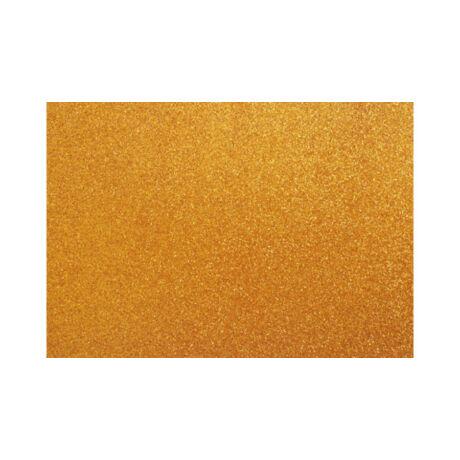 Cre Art öntapadó csillámos dekorgumi lap, A/4, 2 mm, óarany