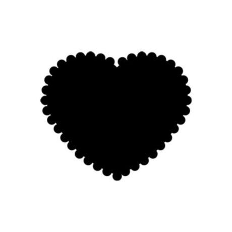 Cre Art formalyukasztó dekorgumihoz 16 mm, cakkozott szív