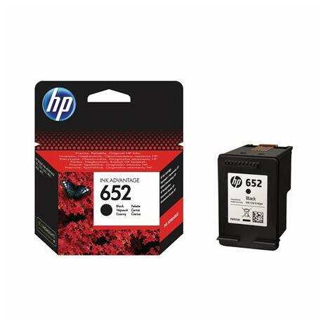 Tintapatron Deskjet Ink Advantage 1115 nyomtatókhoz, HP 652 fekete, 360 oldal