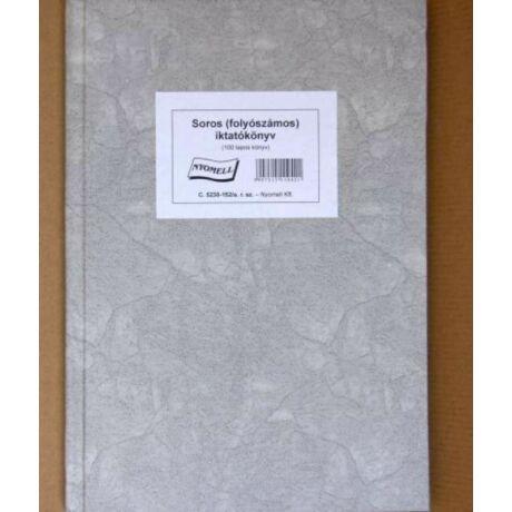 Nyomtatvány, iktatókönyv, 100 lap, A4