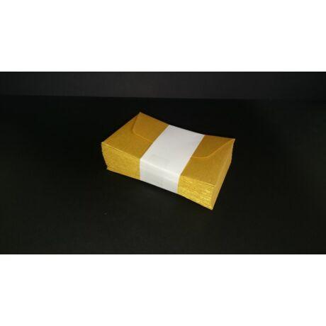 Névjegy boríték enyvezett arany színű 25db/csg