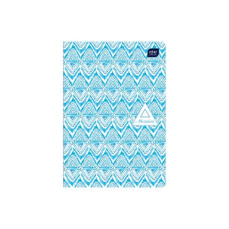 Füzet INTERDRUK UV lakk A/5 60 lap 80 gr papír, Mixed design 1 vonalas