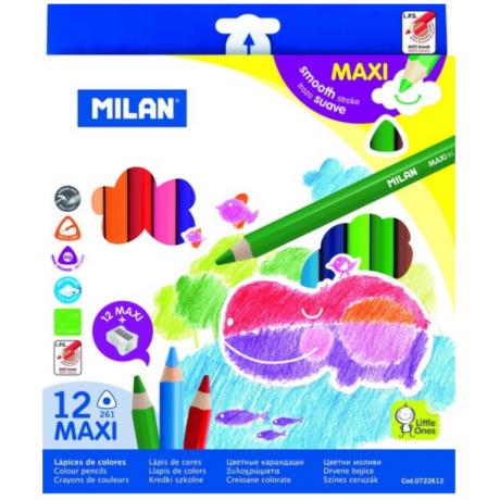Ceruza színes Milan maxi háromszögletü 12-es 261