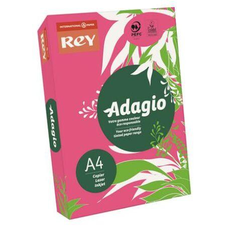 "Másolópapír, színes, A4, 80 g, REY ""Adagio"", intenzív fukszia"