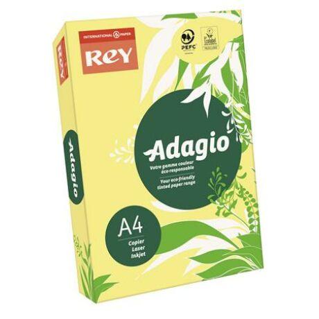 """Másolópapír, színes, A4, 80 g, REY """"Adagio"""", neon banán"""