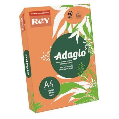"Másolópapír, színes, A4, 80 g, REY ""Adagio"", neon mandarin"
