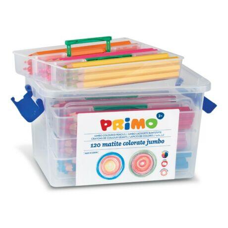 Színesceruza PRIMO vastag, 12x10db, műanyag dobozban