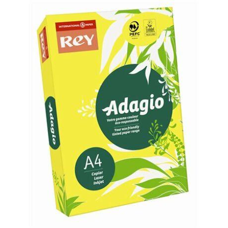"""Másolópapír, színes, A4, 160 g, REY """"Adagio"""", intenzív sárga"""