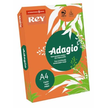 """Másolópapír, színes, A4, 80 g, REY """"Adagio"""", intenzív narancssárga"""