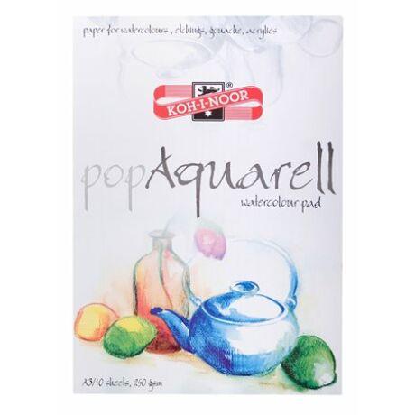 """Vázlatfüzet, speciális papírból, A3, 10 lap, KOH-I-NOOR """"Pop Aquarell"""""""