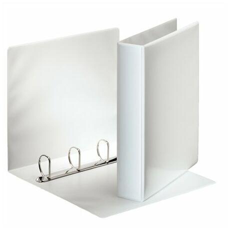 Gyűrűs könyv, panorámás, 4 gyűrű, D alakú, 65 mm, A4, PP, ESSELTE, fehér