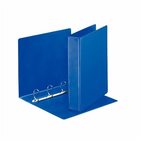 Gyűrűs könyv, panorámás, 4 gyűrű, D alakú, 65 mm, A4, PP, ESSELTE, kék
