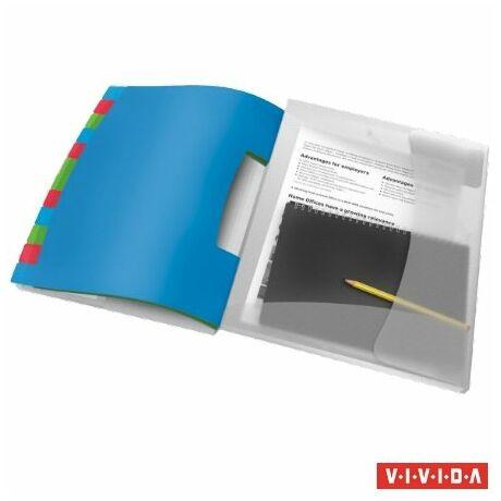 """Előrendező, A4, 12 részes, műanyag, ESSELTE """"Vivida"""", áttetsző"""