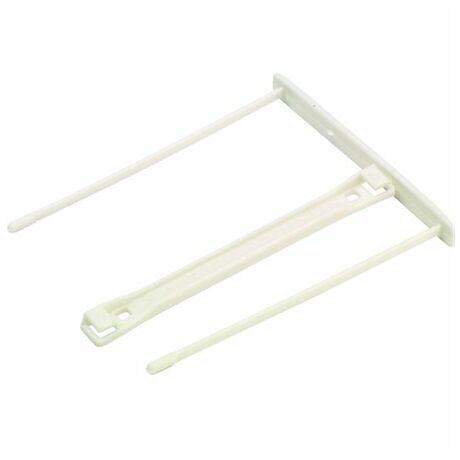 Lefűzőklip, műanyag, fehér, 85 mm, FELLOWES