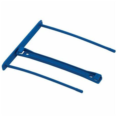 Lefűzőklip, műanyag, kék, 100 mm, FELLOWES