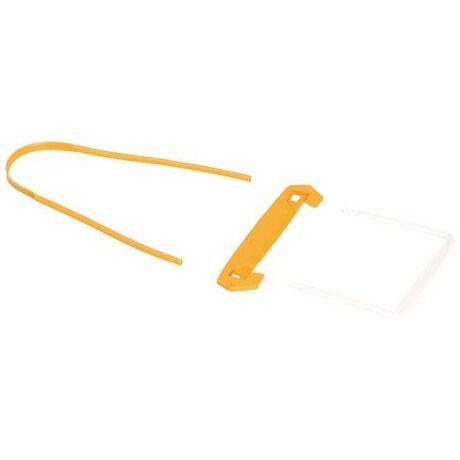 Lefűzőklip, műanyag, sárga-fehér, 100 mm, BANKERS BOX® by Fellowes®